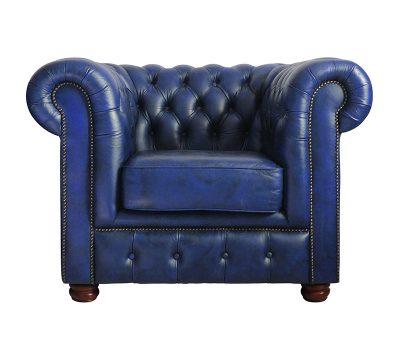 Blue Chesterfield Chair