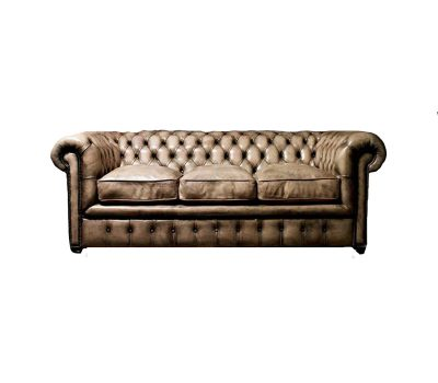 Light Brown Leather Chesterfield