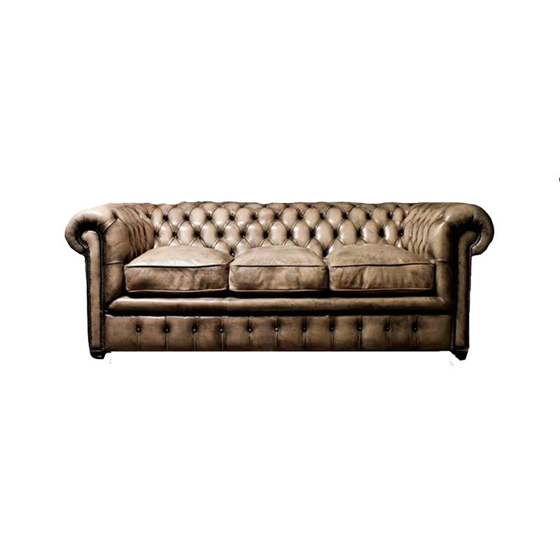 Sofa In A Vintage Rubbed White Leather