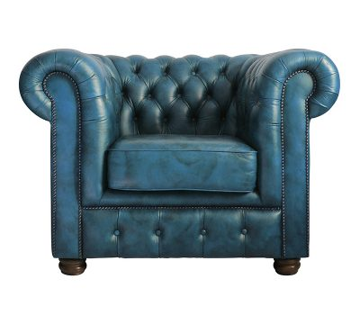 Teal Blue Chesterfield